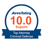Avvo Rating 10.0 Superb Top Attorney Criminal Defense